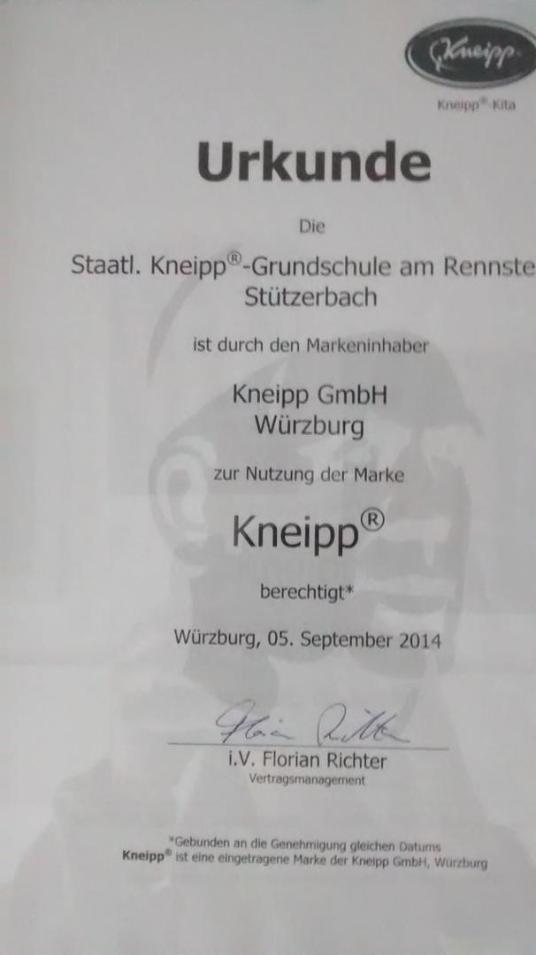 Grundschule Stützerbach - Zertifizierung